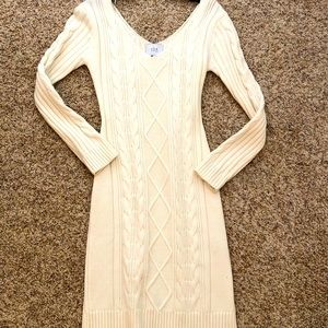 J.O.A. Cream Sweater Dress